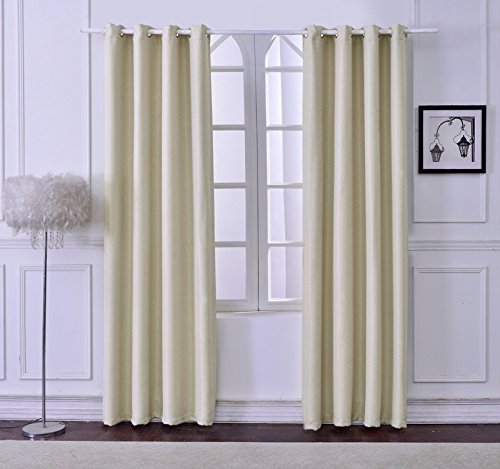 From USA DyFun 2 Panels Linen Thermal Insulated Window