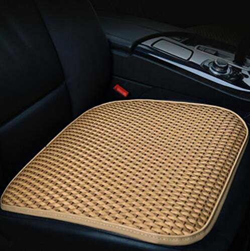 Cool Cover Rattan (Car Seat Summer Rattan Four Seasons Cool Pad One Piece Car Mini Universal Seat Cover Summer Mat Bamboo Mat,Beige)