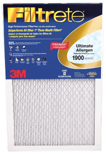 3M UA23DC-6 Filtrate Ultimate Allergen Reduction Filter, 14'' x 24'' x 1'' by 3M