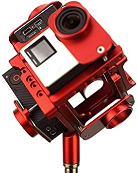 YANTAIANJANE Camera Accessories 6 in 1 CNC Aluminum Alloy Housing Shell Protective Cage with Screw for GoPro HERO4 //3+ Color : Red Black