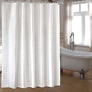 Amazon Com Ufaitheart Extra Long Fabric Shower Curtain 72