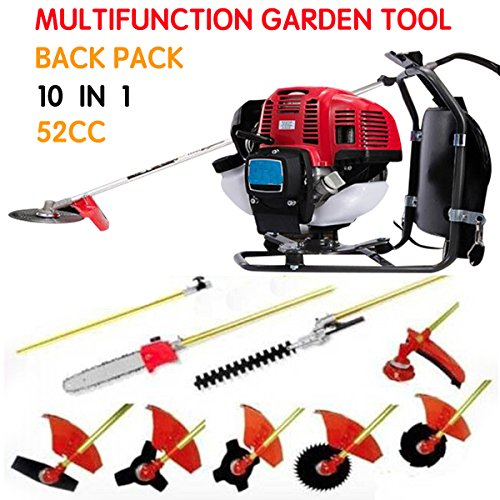 CHIKURA Backpack 10 in 1 Multi garden Brush Cutter whipper snipper chain saw hedge trimmer by CHIKURA