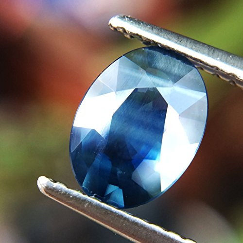 1.32ct Natural Oval Unheated Blue Sapphire Thailand #B by Lovemom (Image #1)