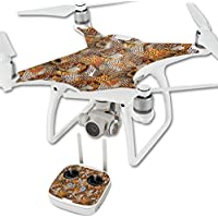 Skin For DJI Phantom 4 Quadcopter Drone – Pheasant Feathers | MightySkins Protective, Durable, and Unique Vinyl Decal wrap cover | Easy To Apply, Remove, and Change Styles | Made in the USA