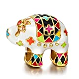 "Image of NinaQueen ""Lucky Elephant"" 925 Sterling Silver Enamel [Happy Family] Charms, Cute Animal Charms Ideal Gifts for Women and Girls, gifts for mom"