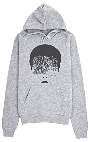 Forest Head With Birds Women's Hoodie Pullover