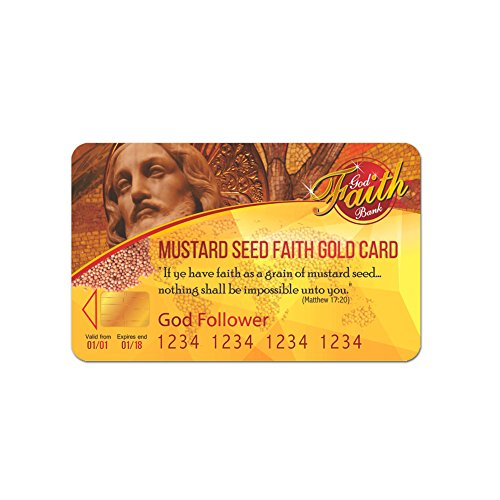 Strengthen Your Faith with Mustard Seed Faith Card - Matthew 17:20 (Pack of 3)