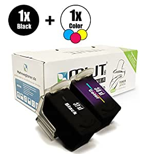 Juego de 2 - MWT MWT Impresora de tinta PG 37 Black + CL-38 Color ...