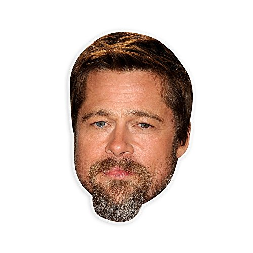 Unwelcome Greetings Serious Brad Pitt Mask - Perfect for Halloween, Masquerade, Parties, Events, Festivals, Concerts - Jumbo Size Waterproof (Brad Pitt Costume)