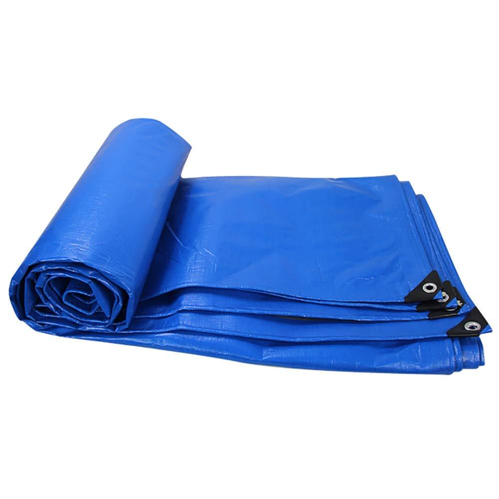 T-ShommeET BÂche Imperméable à l'eau Antigel Anti-Poussière Pare-Chocs Antivieillissement Extérieur, 9 Tailles Bleu Toile D'Auvent 3,8 X 5,8 M Bleu 3.8x5.8m