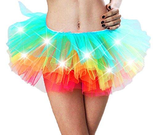 Leegoal Womens Multicolor Legging Petticoat