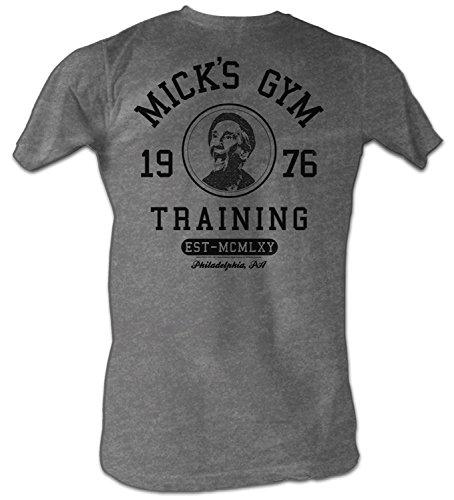 Rocky Men's Micks Gym Training T-Shirt Gray Heather M (Shirt Movie Classic)