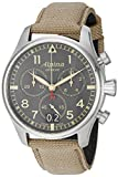 Alpina Men's AL-372BGR4S6 Startimer Pilot Chronograph Big Date Analog Display Swiss Quartz Beige Watch