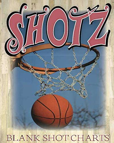 Shotz: 8x10 150 Pages Glossy Finish Blank Basketball Court Templates Book 2