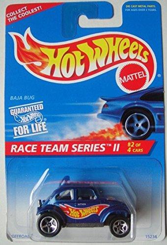 HOT WHEELS RACE TEAM SERIES II 2/4 BLUE BAJA BUG 5 SPOKE 1:64 SCALE DIE CAST (Baja Bug Hot Wheels)