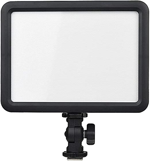 ZWS Photography Accessories Portable LED 5600K Ultra Bright Dimmable on Camera Video Fill Light with 1//4-inch Thread Mount Studio Color : Black
