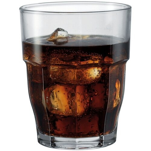 Bormioli Rocco Rock Bar Stackable Double Old Fashioned Glasses, 13 1/4 Ounce, Set of 6