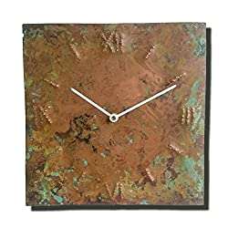 Handmade Copper Wall Clock 12-inch Silent Non Ticking