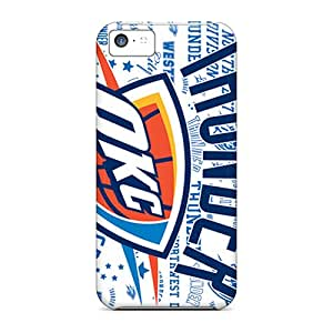 New Snap-on FlowerCase Skin Case Cover Compatible With Iphone 5c- Oklahoma City Thunder