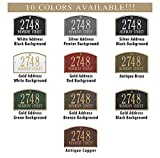 Metal Address Plaque Personalized Cast The Cape