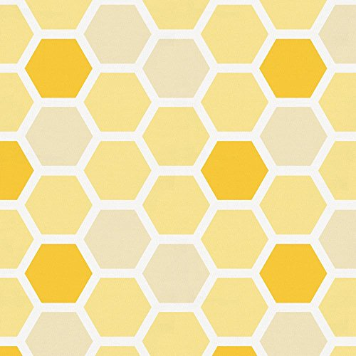 Carousel Designs Yellow Honeycomb Fabric by The Yard - Organic 100% Cotton by Carousel Designs