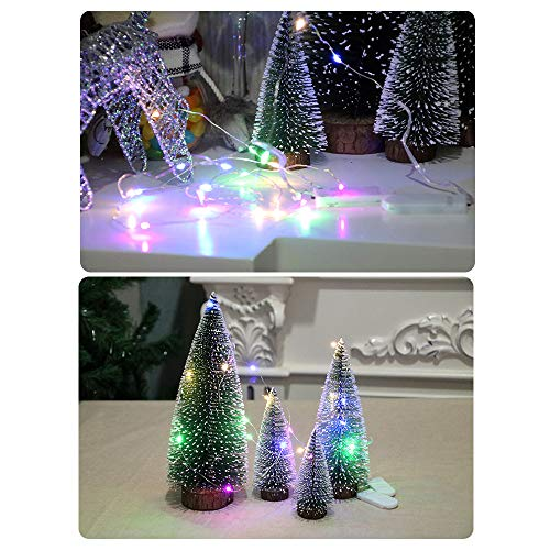 Best Choice Decoration for Christmas Ankola 3.9inch-11.8inch Premium Artificial Christmas Pine Tree White Cedar Easy Assembly with Light (7.8inch, As Shown) by Ankola Black Friday Specials (Image #4)