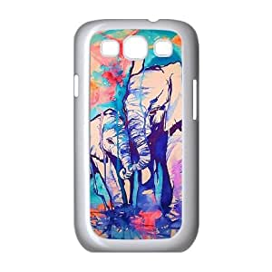 Samsung Galaxy S3 9300 Cell Phone Case White Elephant Pattern 002 VC98N114