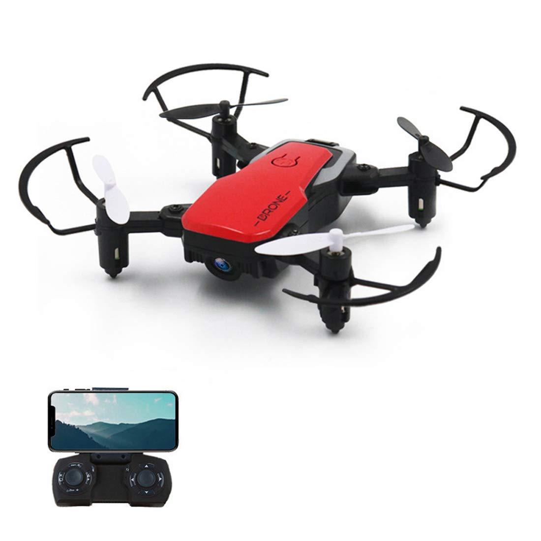Zgifts Gravity Sensing Control Faltige RC-RDrone mit HD-Kamera-Portable Drones 2.4G Hubschrauber ausgestattet mit Headless-System, One Key Return, WiFi-Kamera, Rot