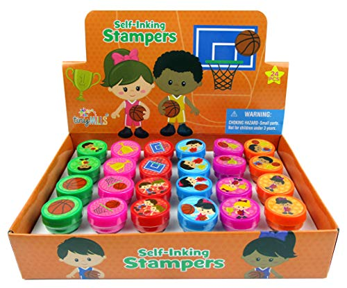 TINYMILLS 24 Pcs Basketball Stampers for Kids