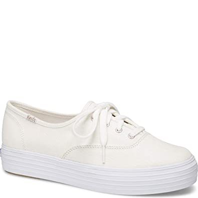 9dd0a1c43a80 Keds Triple Iridescent Women 5 Cream Silver