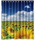 "Standard-Store Custom Sunflower Field Shower Curtain 60"" x 72"""