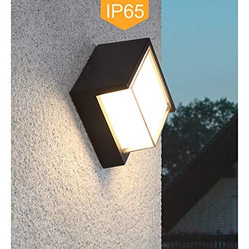 LED IP65 Waterproof Wall Lamp, Yosoan 8W White 4000K Indoor Outdoor Diamond Bulkhead Rainsafe Sconce Matte Black Indoor Outdoo Wall Sconce Up Down - Outdoor Wall Bulkhead