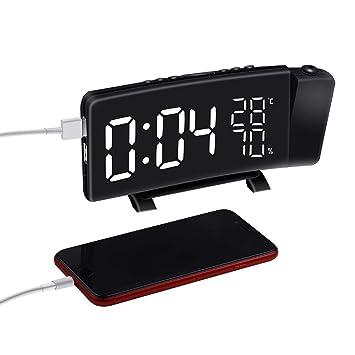 non-brand Sharplace Reloj Despertador Proyección Digital LED FM Radio Alarma Terminales Kits de Instalación Eléctrica: Amazon.es: Electrónica