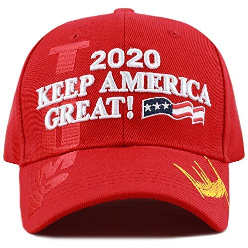 The Hat Depot Exclusive 45th President Trump Make America Great Again 3D Cap (2020Trump-Red)