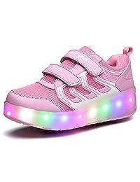 K-SEVEN Boys Girls Roller Skate Shoes with Light Two wheels Sport Sneaker for Kids Youth