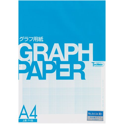 Sakaeshigyo Tochiman log-log graph (Log-Log) paper 81.4g 63mm ¡P 3 ¡Ñ 4 unit memory A4 50 sheets eye color A4-34 both 1 by Sakaeshigyo