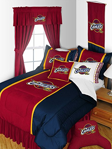 Cleveland Cavaliers 4 Pc QUEEN Comforter Set and One Matching Window Valance (Comforter, 2 Shams, 1 Bedskirt, 1 Matching Window Valance) SAVE BIG ON BUNDLING! by NBA