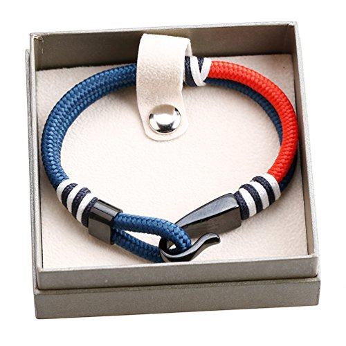MEITS Nautical Rope Bracelet With Stainless Steel Anchor and Colorful Rope-Anchor Bracelet-Unisex Bracelet-Sailor Bracelet - Great Jewelry Gift Idea for Men & Women (20.0) Photo #5