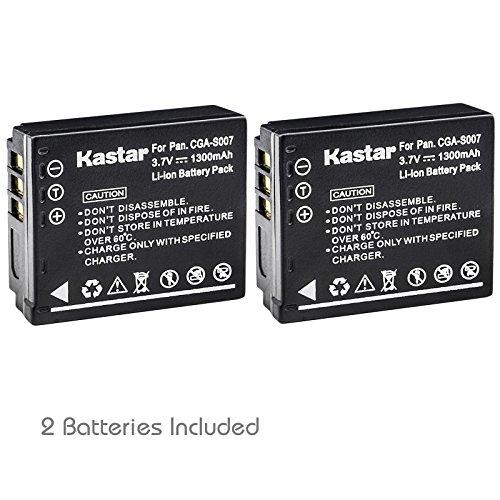 Kastar Battery (2-Pack) for Panasonic Lumix CGA-S007, CGA-S007A, CGA-S007A/1B, CGA-S007E, DMW-BCD10, DE-A25, DE-A26 & Lumix DMC-TZ1, DMC-TZ2, DMC-TZ3, DMC-TZ4, DMC-TZ5, DMC-TZ11, DMC-TZ15, DMC-TZ50