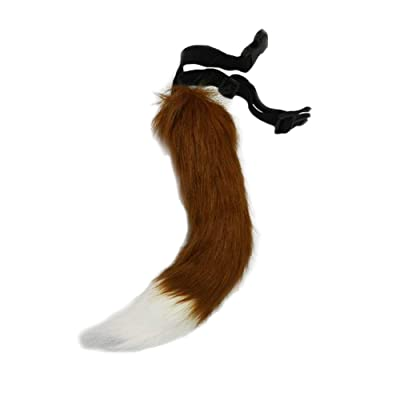 BANLAN Faux Fur Fox Costume Cat Tail Children/Adult Cosplay Halloween Christmas Party Costume One Size Brown: Clothing [5Bkhe0301748]