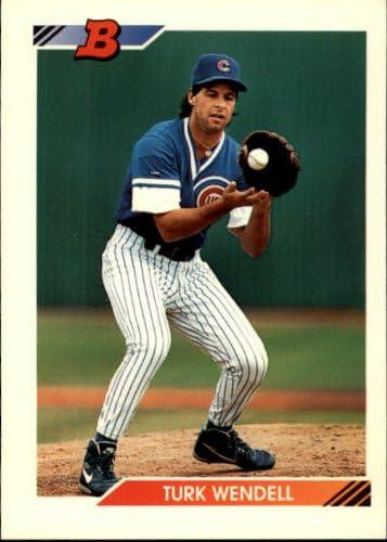 1992 Bowman Baseball Rookie Card #693 Turk Wendell
