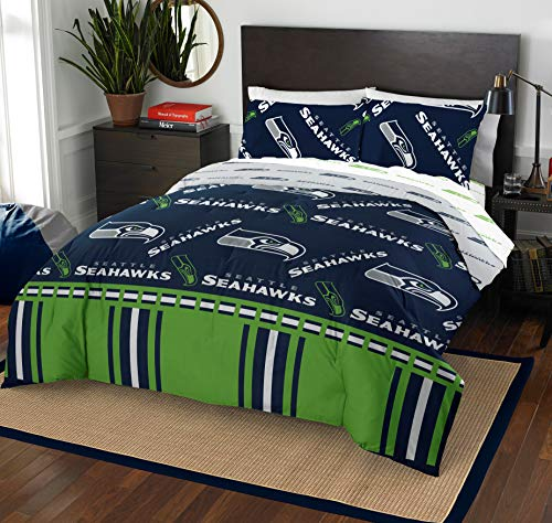 The Northwest Company NFL Seattle Seahawks Queen Bed in a Bag Complete Bedding Set #217730581 (Seattle Seahawks Queen Bedding)