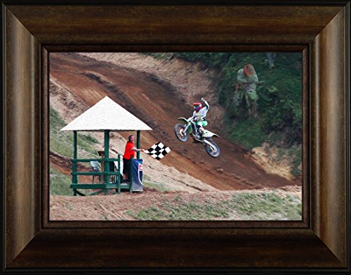 Victorious By Todd Thunstedt 20x26 Motocross Motorcross Racing Track Off Road Harley Davidson Indian Motorcycle Fall Autumn Art Print Framed Wall Décor Picture