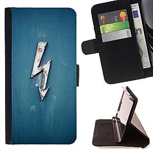 For LG G3 Case , Tensión Electricidad Blue Lightning Ac Dc alta- la tarjeta de Crédito Slots PU Funda de cuero Monedero caso cubierta de piel