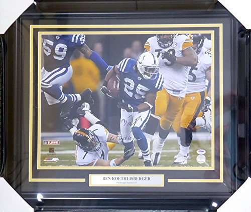 - Ben Roethlisberger Autographed Framed 16x20 Pittsburgh Steelers