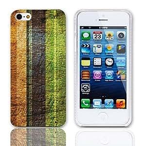 WQQ Caso duro del diseño de la vendimia Rayas con paquete de 3 protectores de pantalla para iPhone 5/5S
