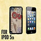 Antique Postcard Custom made Case/Cover/skin FOR Apple iPod Touch 5 5th Generation- Black - Plastic Case ( Ship From CA)