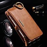 FLOVEME Luxury Retro Wallet Phone Cases iPhone 7 6 6s Plus Cover Leather Handbag Bag Cover iPhone X 7 6 6s 5S Case Coque (Brown/China iPhone X)