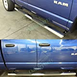 "VioGi Fit:02-08 Dodge Ram 1500 03-09 2500/3500 Quad/Crew Cab 5"" Oval Tube S/S Side Step Rails Nerf Bar Running Boards"