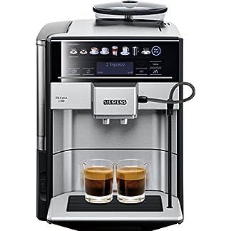 Siemens EQ.6 plus s700 Kaffeevollautomat TE657503DE, automatische Reinigung, Direktwahl, zwei Tassen gleichzeitig, 1.500 Watt, edelstahl 8